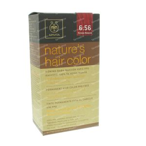 Apivita Natuurlijke Haarkleuring N6.56 Diep Rood 1 St