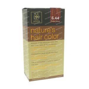 Apivita Natuurlijke Haarkleuring N6.44 Donker Koper 1 stuk