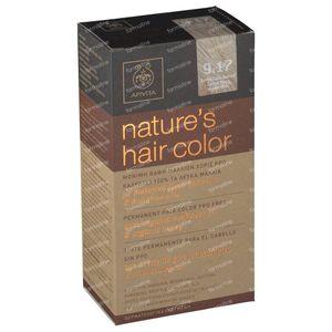 Apivita Natuurlijke Haarkleuring N9.17 Heel Licht Blond As Beige 1 stuk