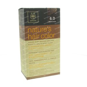 Apivita Natuurlijke Haarkleuring N6.0 Donker Blond 1 St