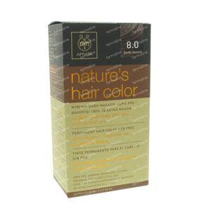Apivita Natuurlijke Haarkleuring N8.0 Licht Blond 1 St