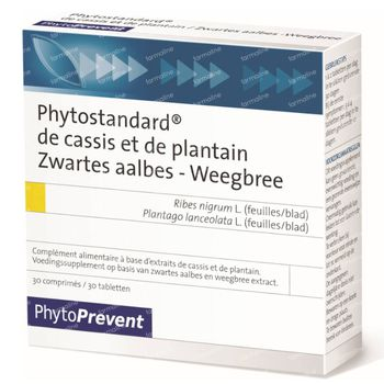 Phytostandard Cassis - Plantain 30 comprimés