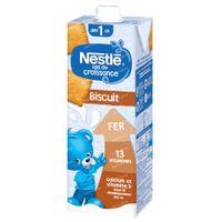 Nestlé Lait De Croissance 1+ Biscuits 1 l lait