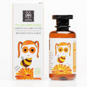 Apivita Baby Haar & Body Wash Met Calendula & Honing 200 ml fles