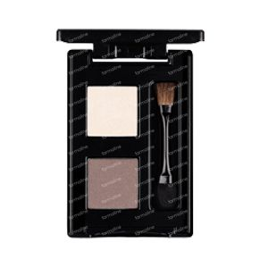 Les Couleurs De Noir Eyeshadow Duo Vanilla/Chocolate 02 1 item