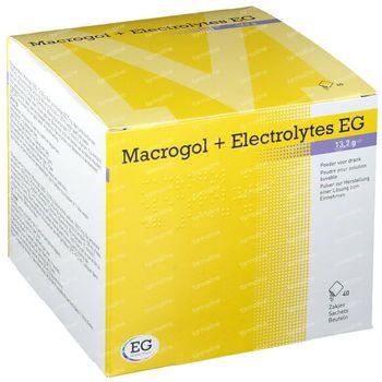 Macrogol + Electrolytes EG 13,7g Poudre 40 sachets