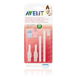 Avent Set Straws With Brush 2 pieces