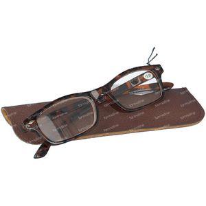 Pharma Glasses Leesbril Bruin +2.50 1 stuk