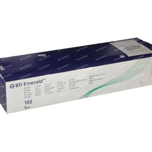 BD Emerald Disposable Syringe Without Needle 5ml Luer 100 pezzi