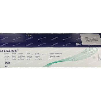 BD Emerald Seringue Sans Aiguille Jetable 5ml Luer 100 st