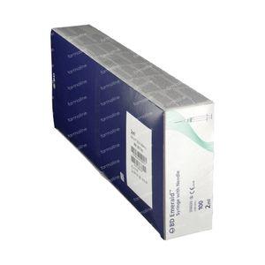 BD Emerald Seringue 2ml + Aiguille 23g 100 pièces