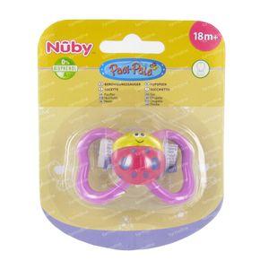 Nuby Pacifier Tritan Paci-pals Ovaal +18m 1 item