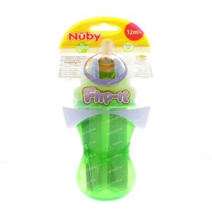 Nuby Drink Cup Pp Anti - Leak + Straw +12M 355 ml