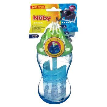 Nuby Gobelet Pp Anti - Goutte  + Paille +12M 355 ml