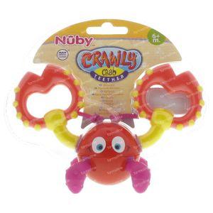 Nuby Bite Figure Crab +6m 1 item