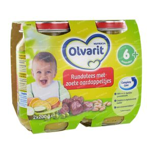 Nutricia Olvarit Boeuf + Patates Douces 6 + 400 g