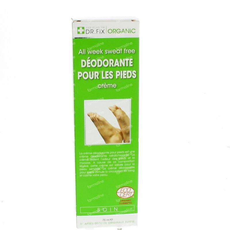 dr fix organique deodorant creme pour les pieds 75 ml cr me vente en ligne. Black Bedroom Furniture Sets. Home Design Ideas