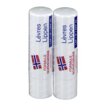 Neutrogena Stick Lèvres SPF20 Duo 2 st