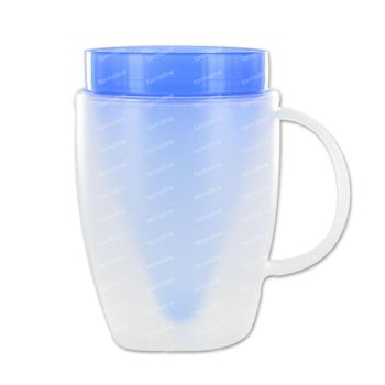 Advys Gobelet Isolant Forme D'entonnoir + Poignée Bleu 180 ml