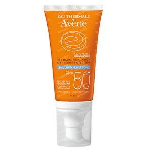 Avène Solar Emulsión SPF50+ Sin Perfume 50 ml