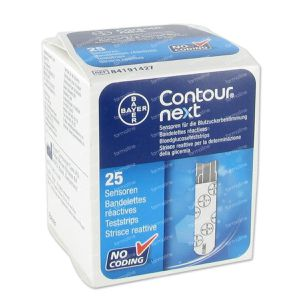 Bayer Contour Next  Blood Glucose Teststrips 25 pieces