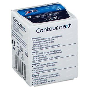 Bayer Contour Next Glucosemeter Teststrips 50 stuks