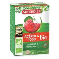 Superdiet Acerola 1000 Bio 24  comprimés à croquer