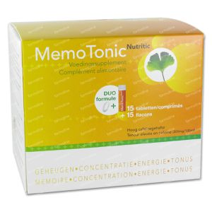 Memotonic 15 Tabletten + 15 Flacons 5761 1 stuk