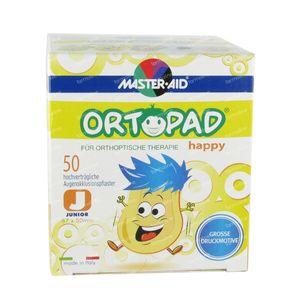 Ortopad Happy Junior Pansements Yeux 50 pièces