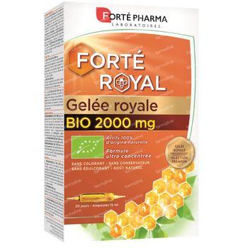 Forté Pharma Gelée Royale Bio 2000 Mg 20 ampoules