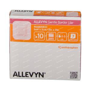 Allevyn Gentle Border Lite 5 x 5cm 66800833 10 pièces