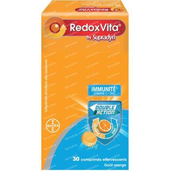 RedoxVita Double Action 1g Vitamine C & Zinc Immunité 30 comprimés effervescents