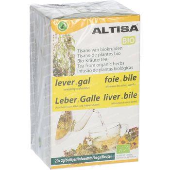 Altisa Thee Lever Gal Bio 20x2 g beutel