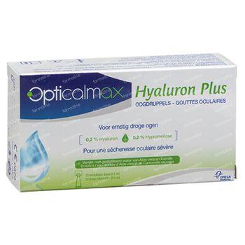 Opticalmax Hyaluron Plus Gouttes Oculaires 20x0,5 ml