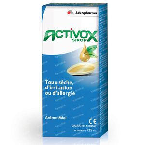 Activox Siroop Droge Hoest Honingaroma 125 ml Siroop