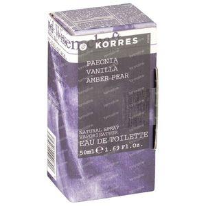 Korres Parfum Pioen/Vanille/Amber 50 ml flacon