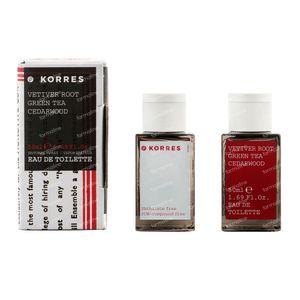 Korres KB Parfum Vetiver - Thé Vert - Cèdre 50 ml