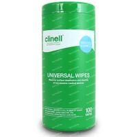 Clinell Lingettes Universelles Tube CWTUB100 100 pièces