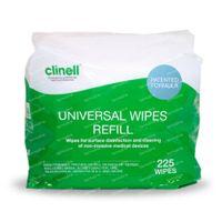 Clinell Lingettes Universelles Recharge Seau CWBUC225R 225 pièces
