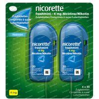 Nicorette® Freshmint  Zuigtabletten 4mg - bij Stoppen met Roken 80  zuigtabletten