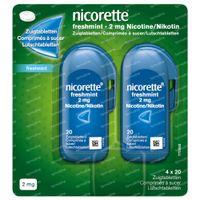 Nicorette® Freshmint Zuigtabletten 2mg - bij Stoppen met Roken DUO 80  zuigtabletten