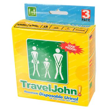 Travel John Wegwerp Urinaal 3x800 ml