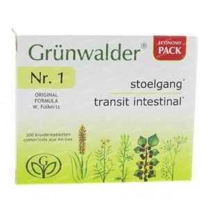 Grunwalder Nr1 Maxi Natuurlijke Stoelgang 100 St tabletten