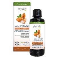 Physalis Zoete Amandel Plantaardige Olie Bio 100 ml