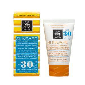 Apivita Sun Face Vette/Gemengde Huid SPF30 50 ml