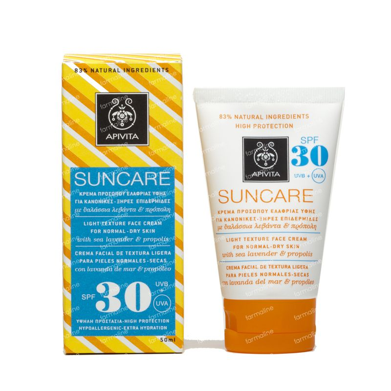 Apivita Sun Visage Peaux Normales/Seches SPF30 50 ml tube