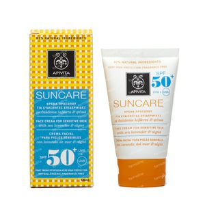 Apivita Sun Visage Peaux Sensitives SPF50 50 ml tube