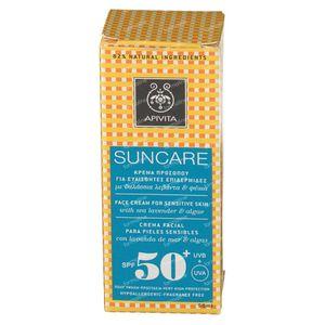 Apivita Sun Face Gevoelige Huid SPF50 50 ml tube