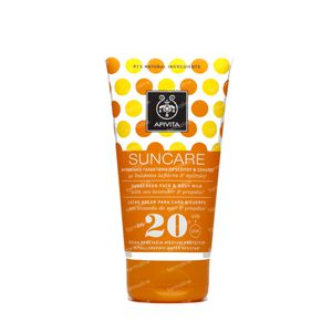 Apivita Sun Face & Body Sunscreen SPF20 150 ml tube