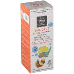Apivita Sun Bio-Eco Zonnecrème Baby's & Kinderen SPF30 100 ml fles